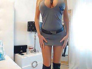 Big Tit Blonde Police Officer