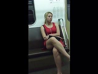 dress in the train