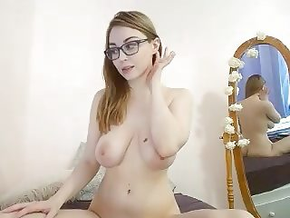 nat cums while wearing glasses