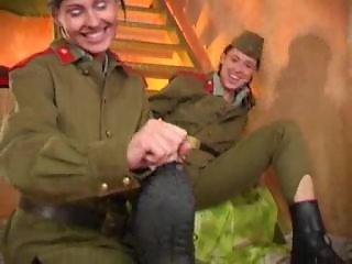 Two brunette soldiers the any place