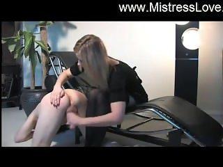 mistress slaps and jerk her bitch
