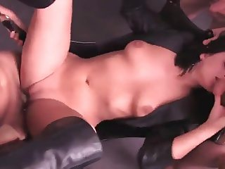 Kinky gangbang for sexy Dutch babe