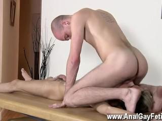 Gorgeous gay sheer socks kissing Brit lad Oli Jay is bound down to the