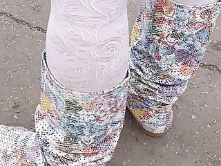 White pantyhose upskirt