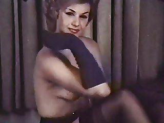 PERHAPS - vintage blonde striptease stockings gloves