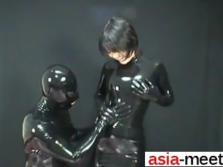 Fuck her on ASIA-MEET.COM - Japanese Latex Catsuit 58