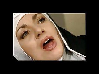 Hot Hairy Nun Enjoys Cum