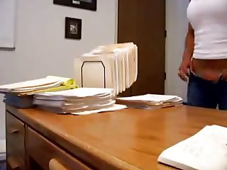 Secretary fucked on office desk