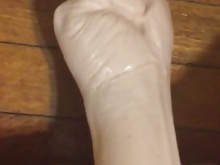 Rubber Fist Pussy Squeeze