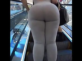 Huge Candid Latina Spandex Ass