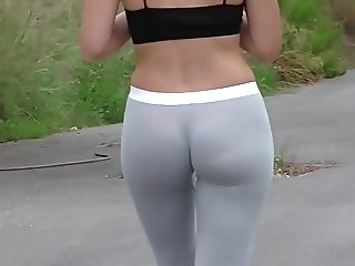 Lycra booty and no panties