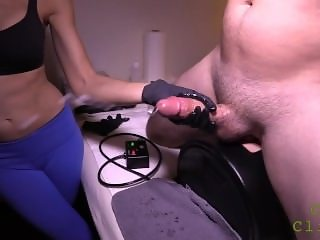 Huge cumshot prostate milking cum clinic