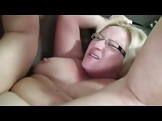 Chubby amateur mature fucked and facialized