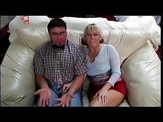 Fat couple burn some claories humping