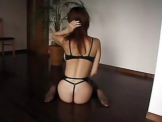Japanese fishnet stockings play with pussy (uncensored)