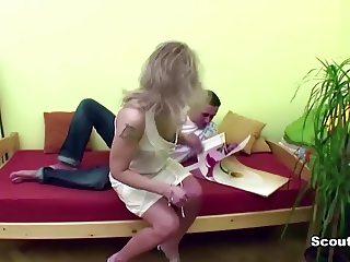 Taboo Milf Step-Mom Seduce Step-Son to fuck her ass