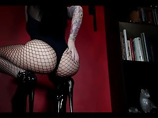 Sexy Fishnet and High Heel Teasing