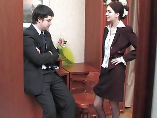 Judith again, business suit again, anal again, creampie