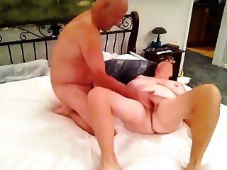 Grandma cums and blows Grandpa