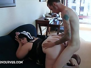Big Butt Chunky Babe Alexxxis Allure back scuttled