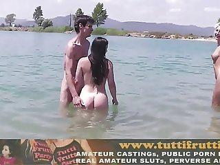 Nude beach orgy