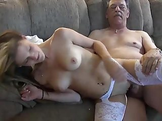 Horny old man fuck grandson's girlfriend