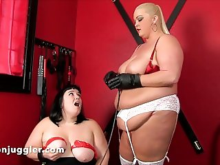 Mistress Vallery Vixen gives Alexxxis Allure pleasure & pain