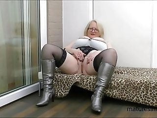 Wearing my silver boots