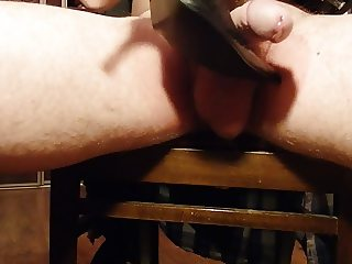 My cock and soft leather boots.