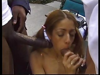Petite Cheerleader love big cocks JJ