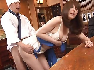 Public sex show in a restaurant