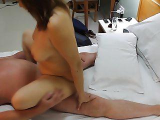 Uzbekistan Whore MILF rides British Stud Cowgirl