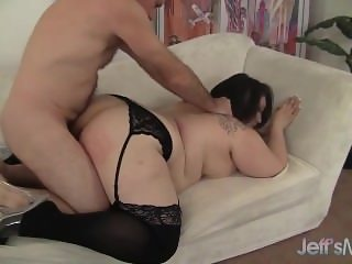 From SEEKBBW.NET Cute and chubby plumper Alexxxis Allure fucking a fat cock