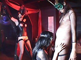 Kinky sluts into bondage banged