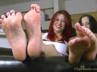 Catherine Foxx and Luna Vera in Foot Tickle Contest