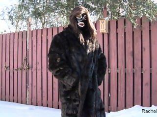 Rachel Dane & her fur coat