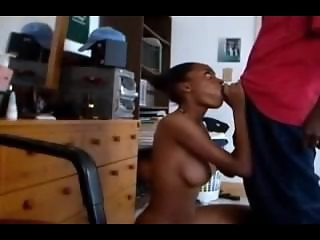 Ebony Couple Makes Freaky Sextape