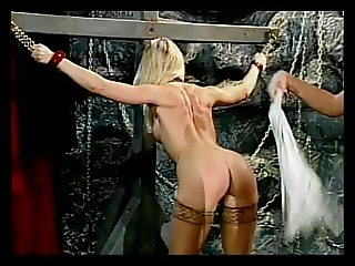 Kinky babe bound and gets her dildo in cunt