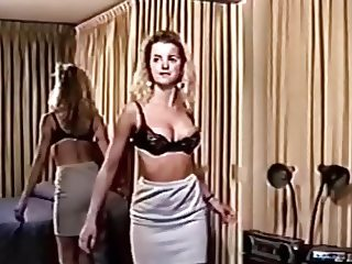 Retro vintage girl striptease