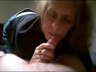 Grandma suck cock and cum