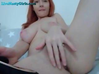 Massive Natural Tits On Redhead Webcam Girl