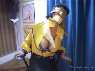Chair bound and blindfolded