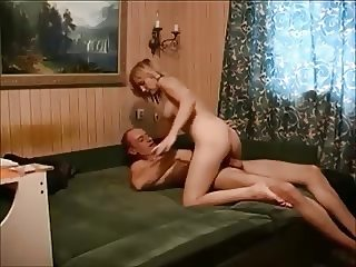 Amateur blonde orgasm with old guy