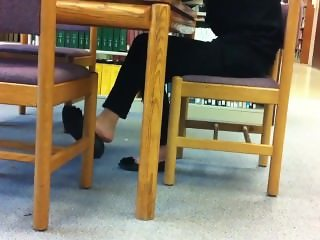 Bea from 1fuckdate.com - Candid asian library shoeplay feet