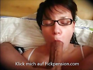 German Redhead Glasses Blow Sperma