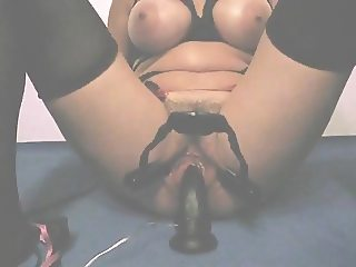 Mature mom big tits and clit torture
