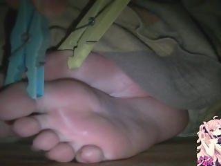 Tickling sleepy kitty