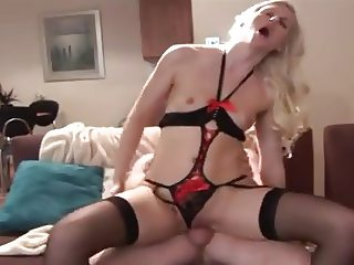 Tall Blonde Escort does a punter