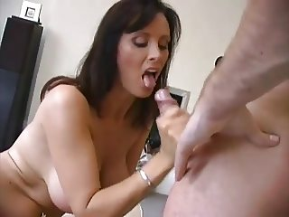 Busty wife anal fuck and sperm covered