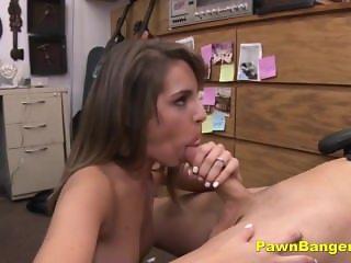 Hot Brunette Chick Gets Her Camel Toe Pussy Banged